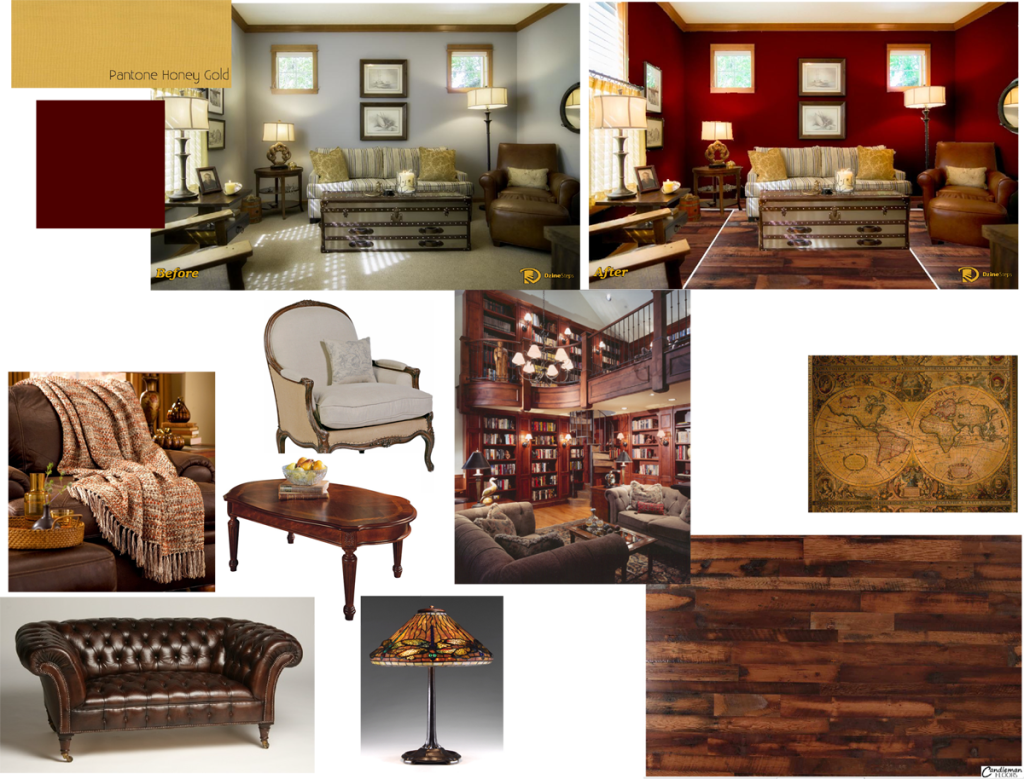 DzineSteps example mood board.
