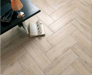 Porcelain Wood-look Tile Example.