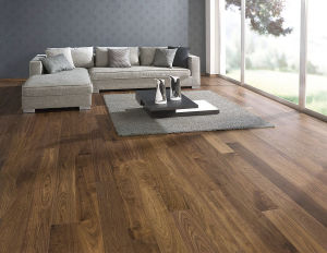 Example of engineered wood flooring.