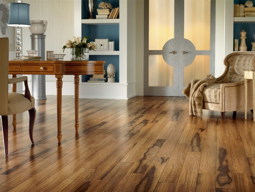 Example of laminate wood flooring.