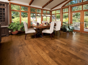 Example of solid hardwood flooring.