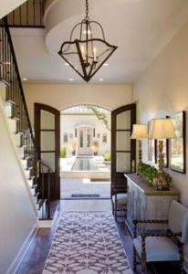 Foyer with patterned rug. Photo courtesy of Pinterest.com.