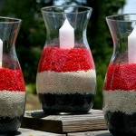 Red, White, and Blue candle holders. Photo courtesy of select decorations.blogspot.com.