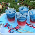 Layered Fourth of July drinks. Photo courtesy of caramelpotatoes.com.
