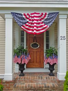 Front yard flag display. Photo courtesy of pinterest.com.