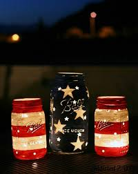 DIY Fourth of July painted candle jars. Photo courtesy of woohome.com.