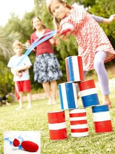 Fourth of July inspired Rocket Toss yard game. Photo courtesy of Pinterest.com.